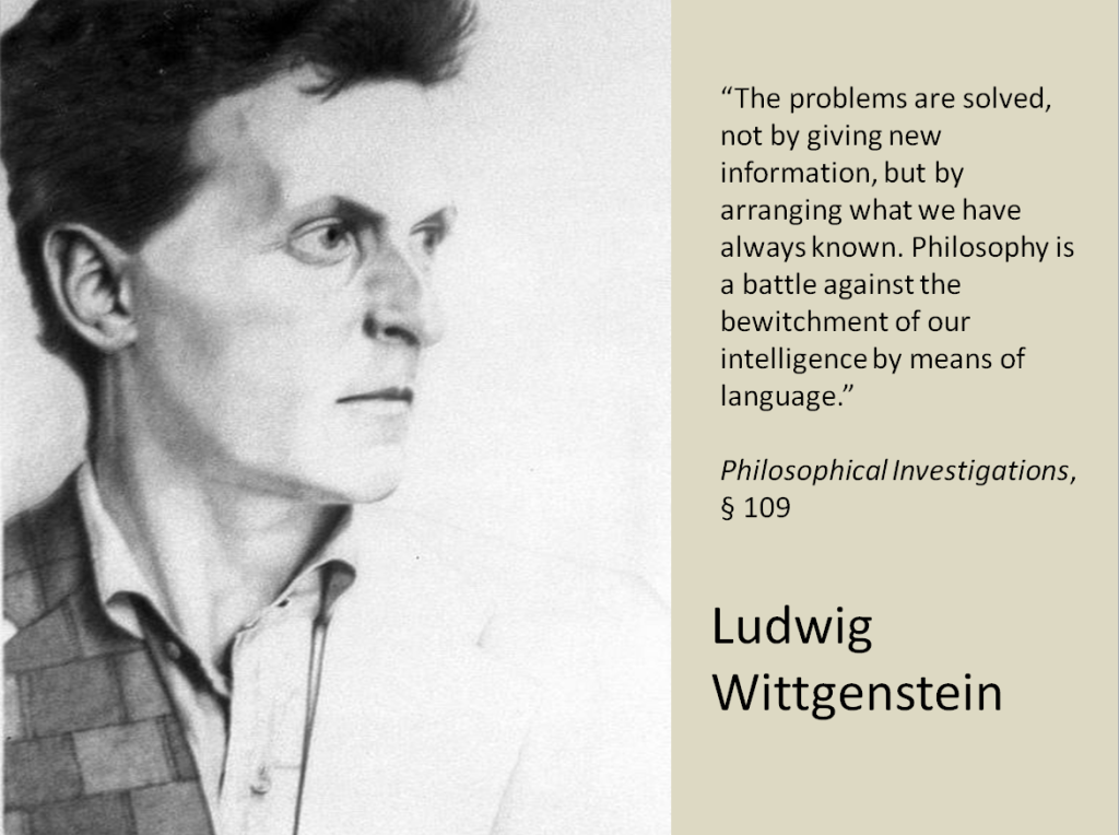 an explanation of the book of ludwig wittgenstein 2 ludwig wittgenstein,  it is a matter of what wittgenstein, in the blue book,  no suggestion from wittgenstein that any explanation will be accept.